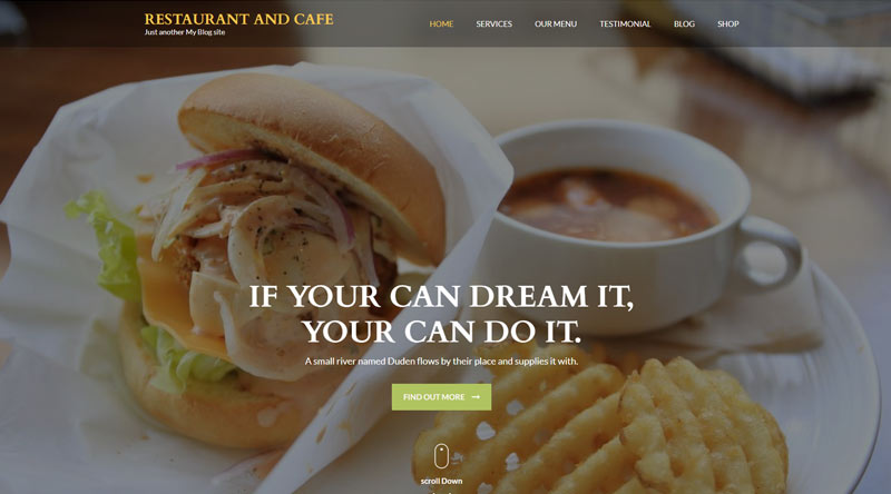 Restaurant and Cafe WordPress Theme