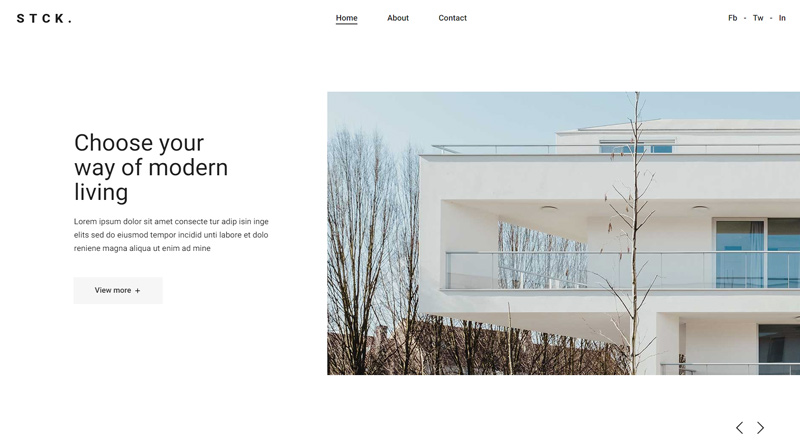 Stockholm Architects WordPress Theme