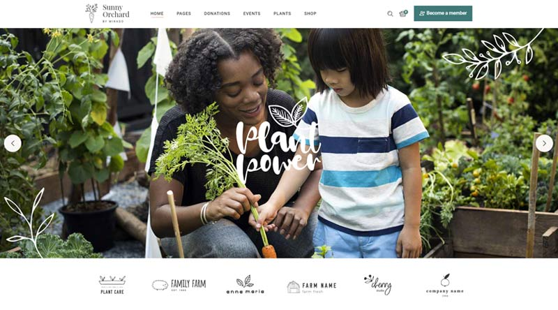 Sunny Orchard WordPress Theme