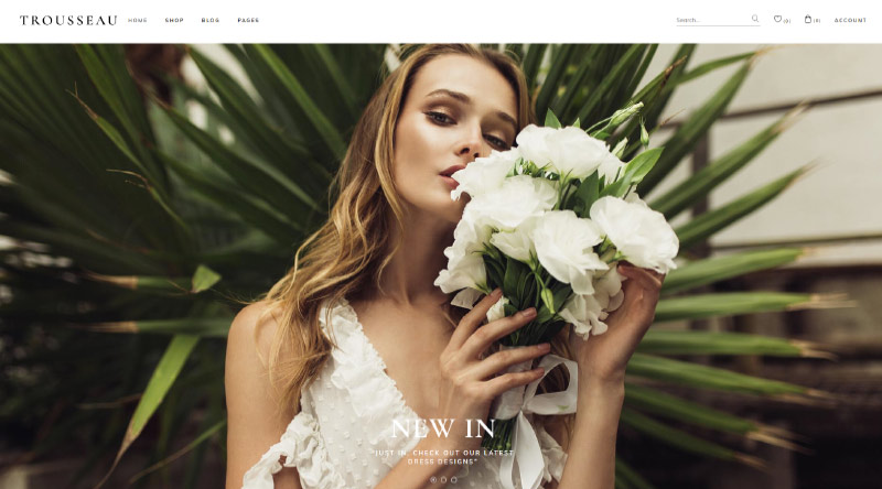 sseau Bridal Shop WordPress Theme