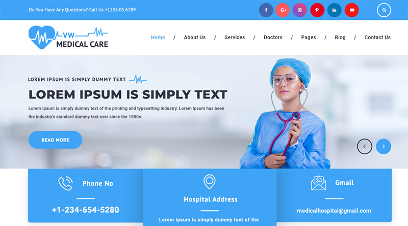 VW Medical Care WordPress Theme