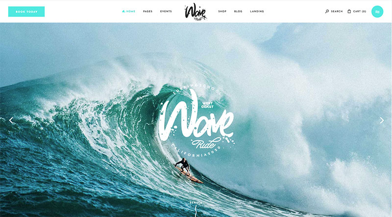 WaveRide Wordpress theme