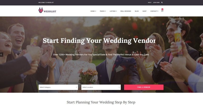 Weddlist WordPress Theme