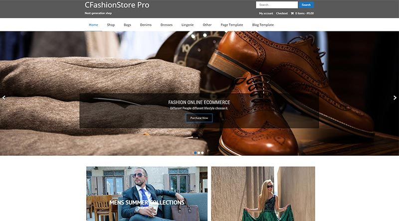 CFashionStore Lite WordPress-Theme