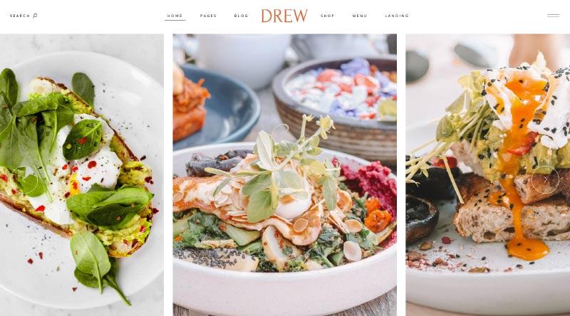 Drew WordPress theme