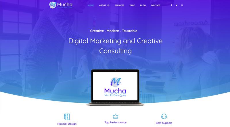 Mucha WP theme