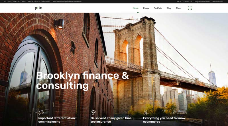 PrimeInvest Finance WordPress Theme