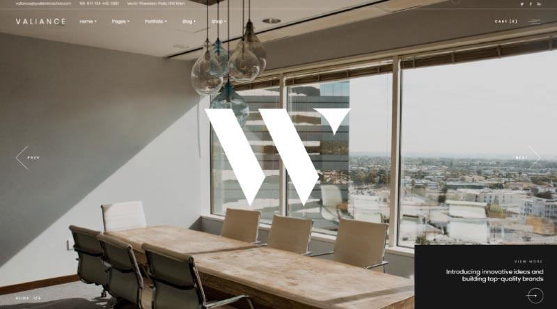 Valiance WordPress Theme