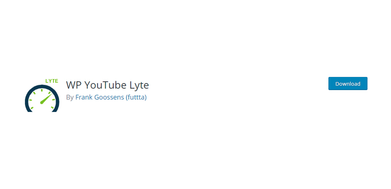WP YouTube Lyte plugin