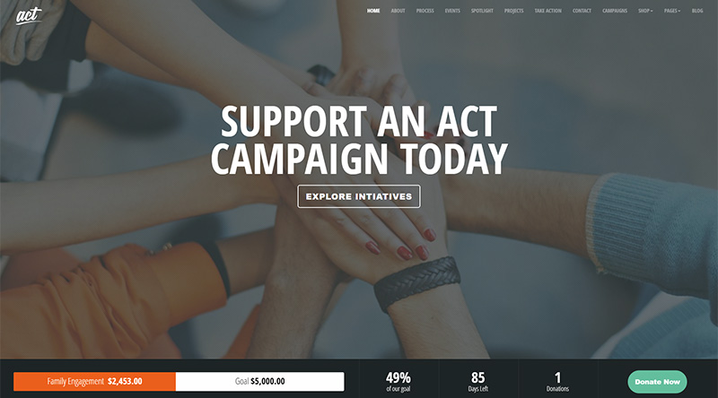 Act WordPress Theme