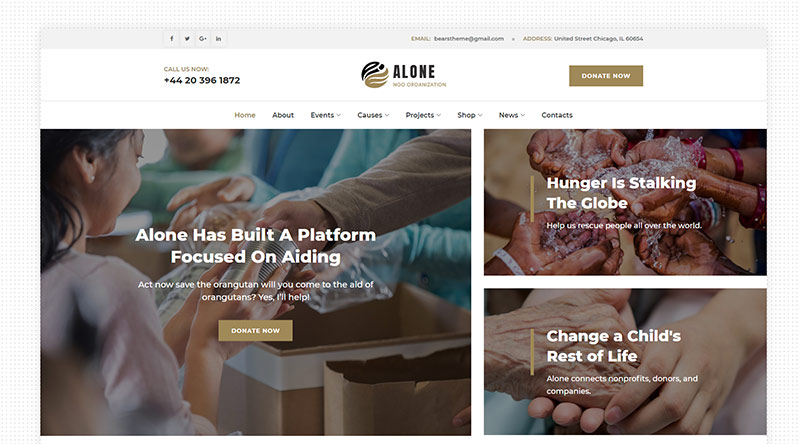 Alone WordPress Theme