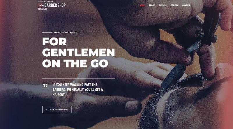Astra Barbershop WordPress Theme