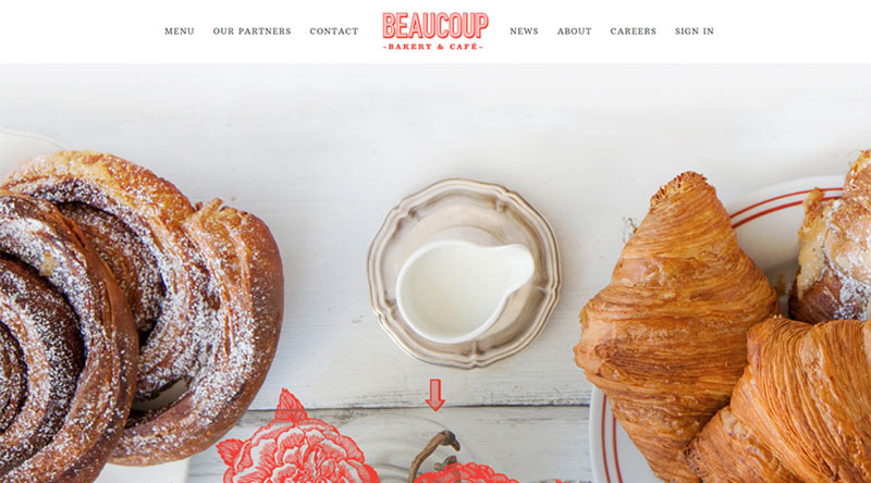 Beaucoup Bakery website