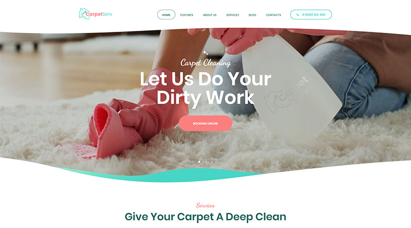 CarpetServ WordPress Theme