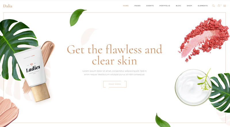 Dalia MakeUp WordPress Theme