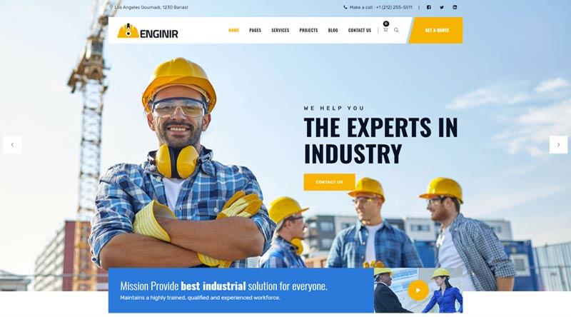 Enginir Engineers WordPress Themes