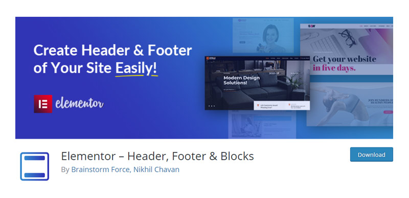 Elementor – Header, Footer & Blocks
