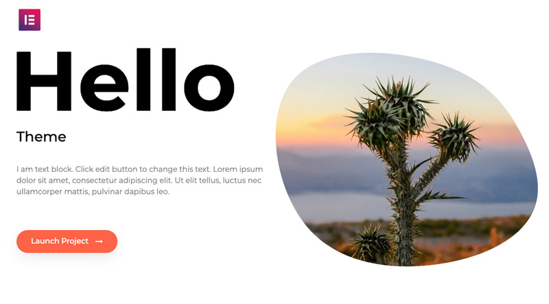 Hello Elementor WordPress-Theme