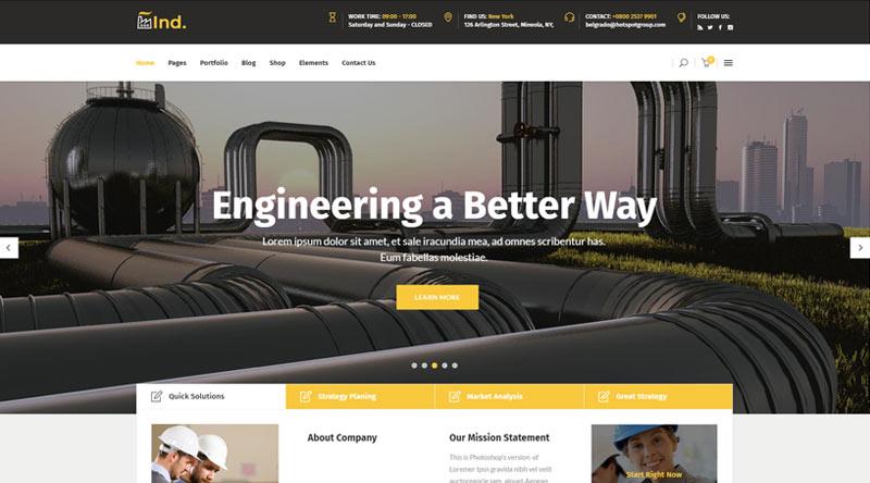 Industrialist Engineers WordPress Themes