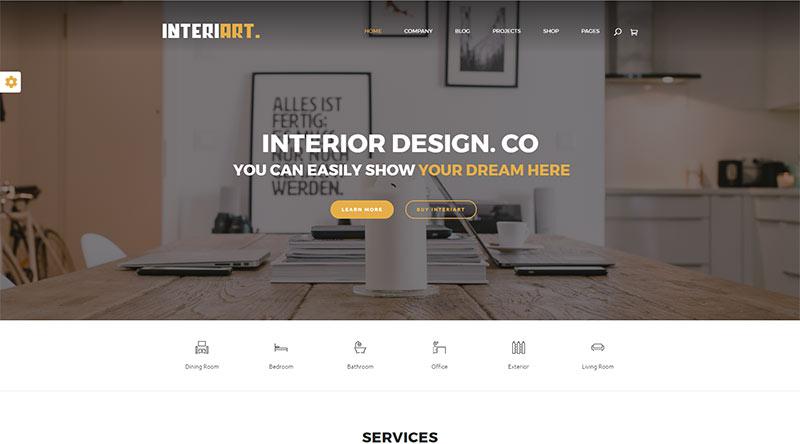 Interiart WordPress Theme