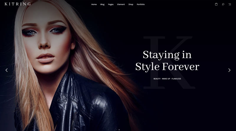 Kitring MakeUp WordPress Theme