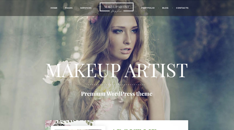 MakeUp Artist Pro WordPress Theme