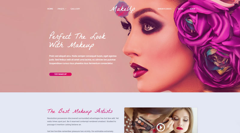MakeUp WordPress Theme