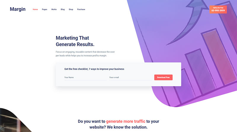 Margin WordPress Theme