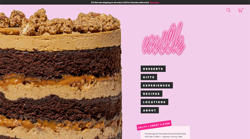 Milk Bar website