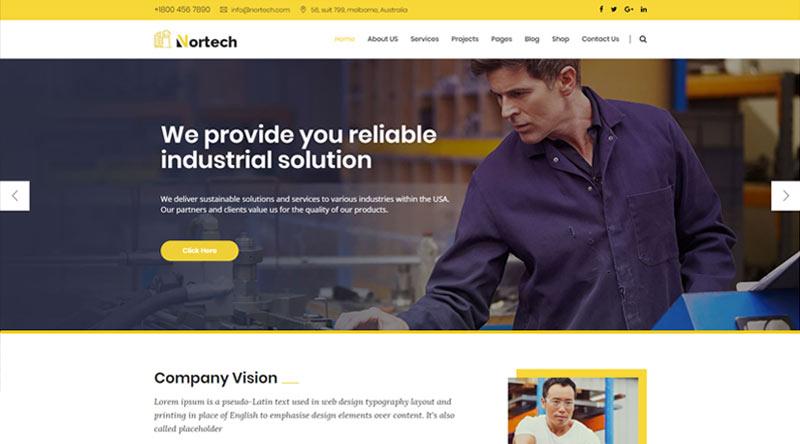 Nortech Engineers WordPress Themes