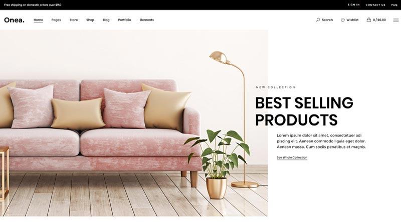 Onea Furniture Store WordPress Themes