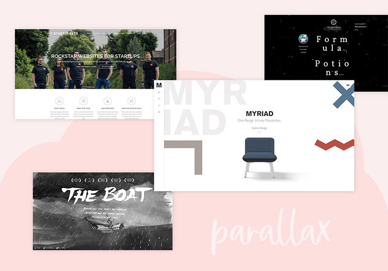 Websites with Parallax Scrolling