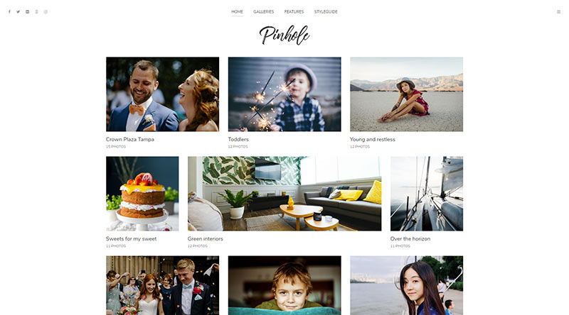 Pinhole WordPress Theme