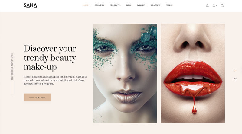 Sana MakeUp WordPress Theme