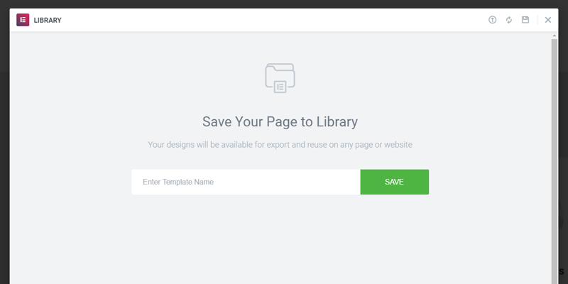 Save your page to library