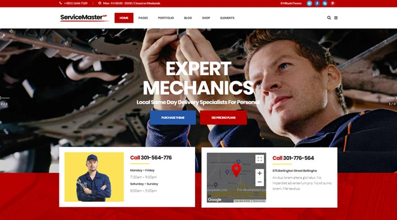 Service Master Engineers WordPress Themes