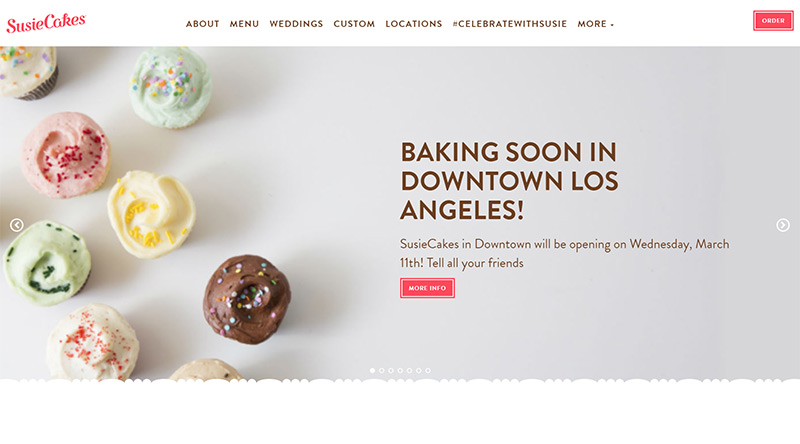 SusieCakes website