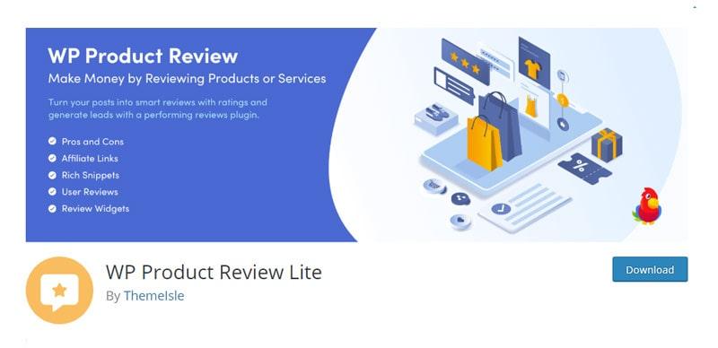 WP Product Review Lite WordPress Plugin