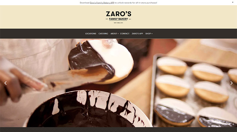 Zaro website