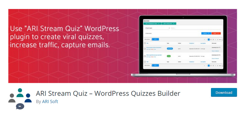 ARI Stream Quiz WordPress plugin