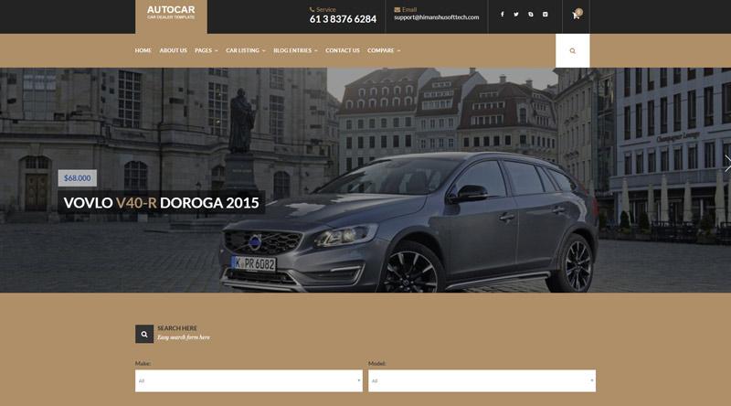 Auto Car WordPress Theme