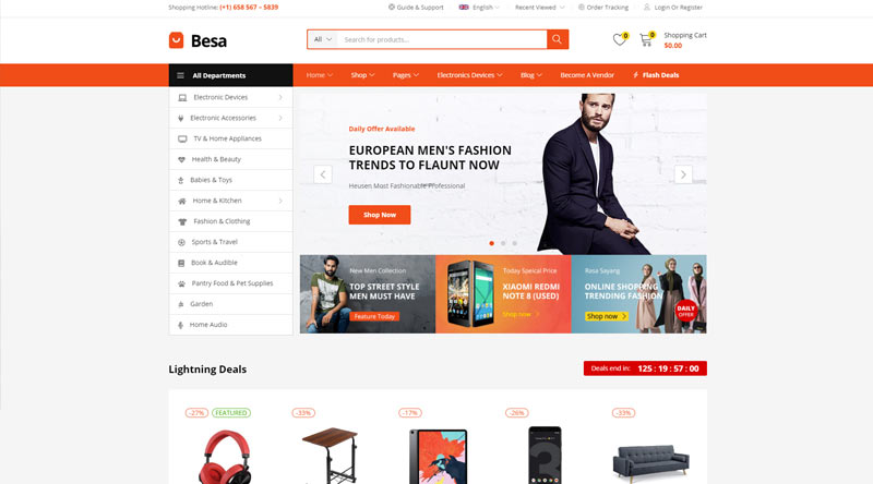 Besa WordPress Theme