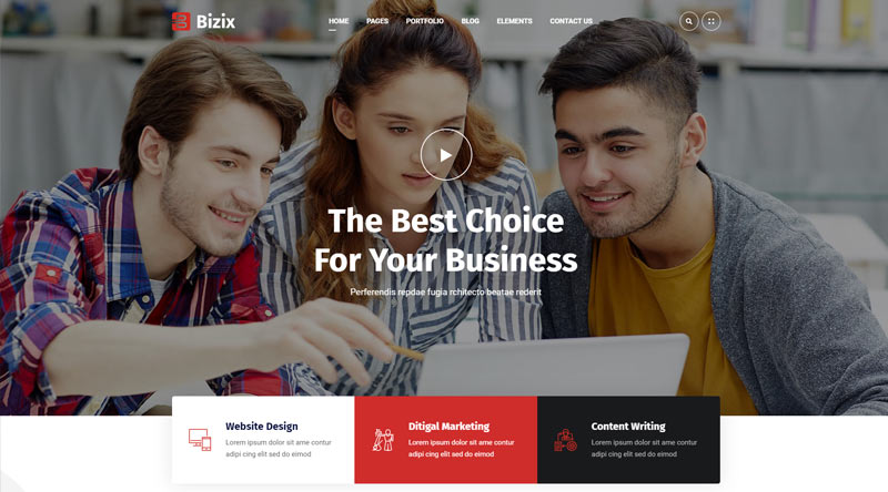 Bizix WordPress Theme