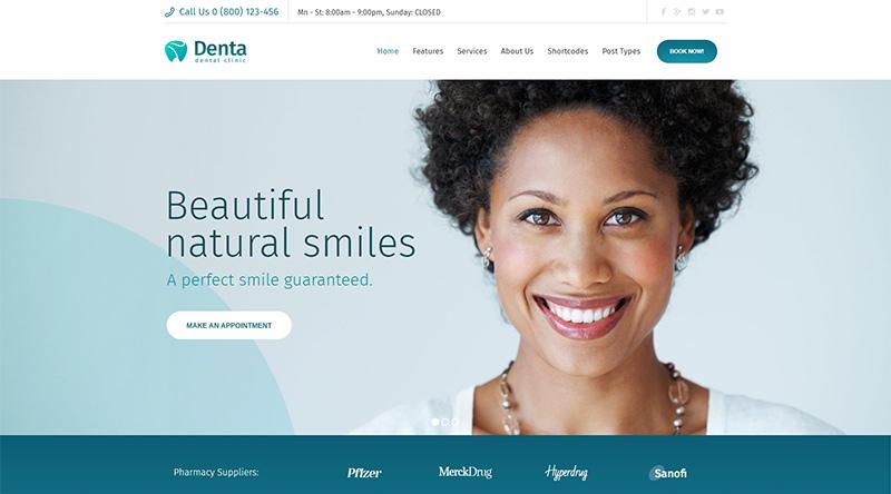 10+ Great Dentist WordPress Themes 2