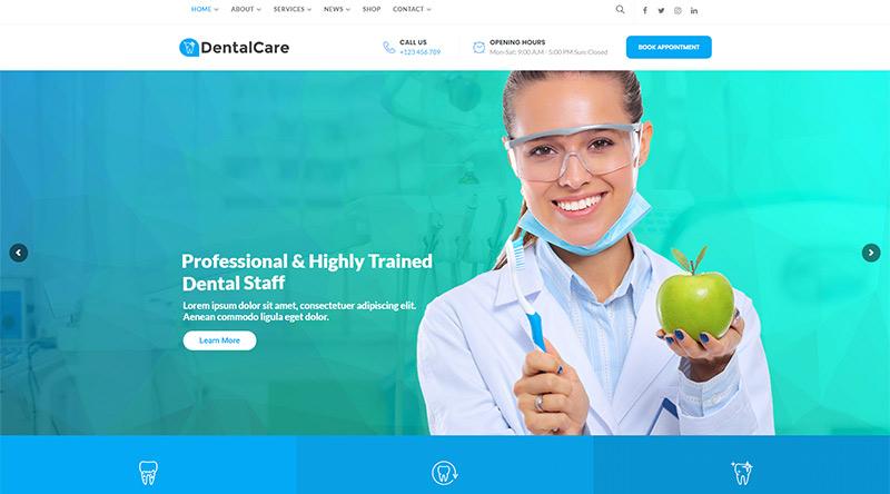 Denta Care WordPress theme
