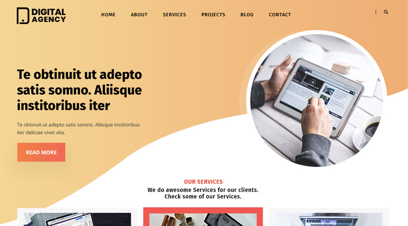 Digital Agency Lite WordPress Theme