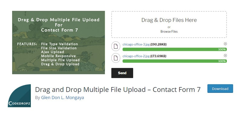 Drag and Drop Multiple File Upload Plugin