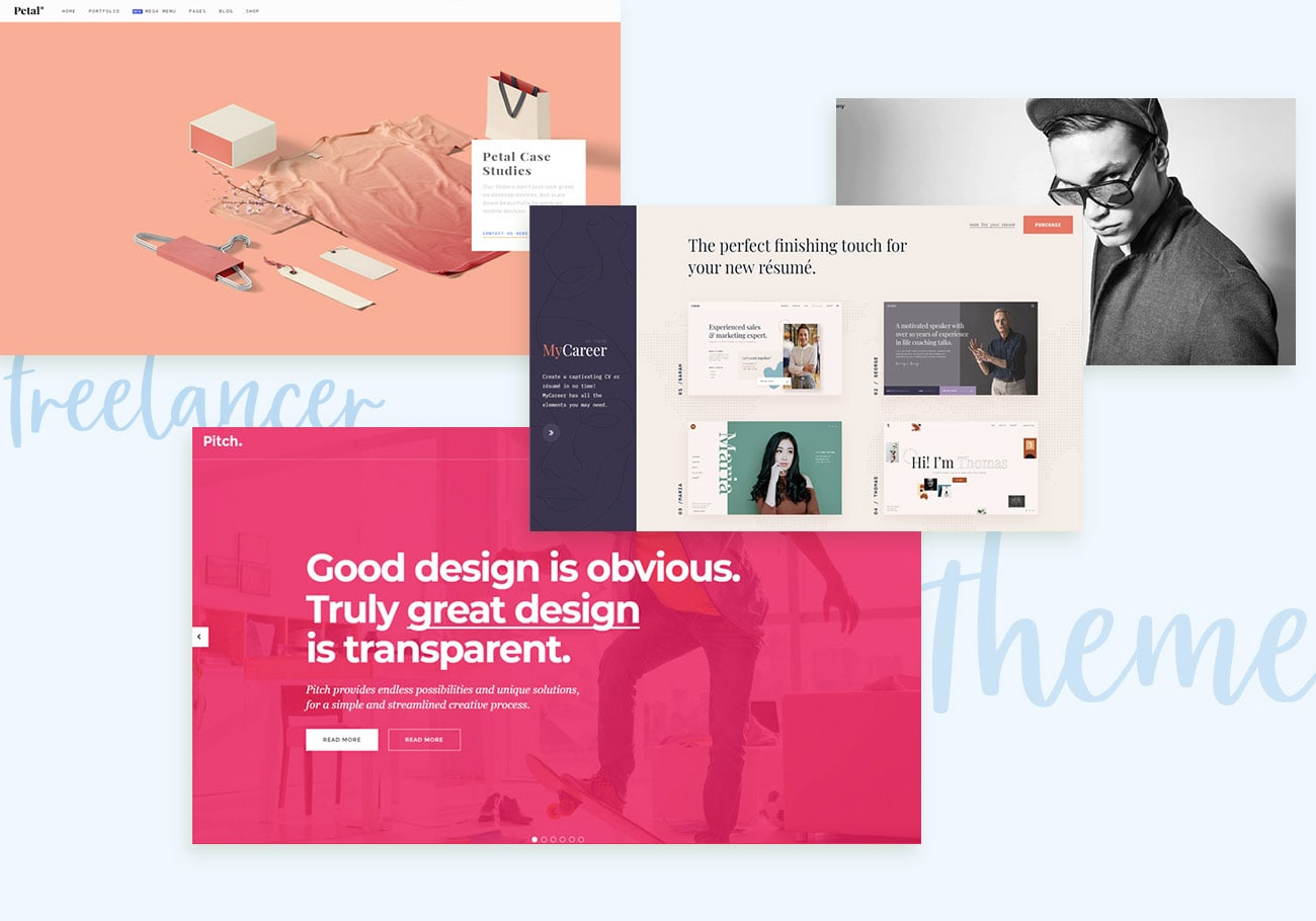 Eye-Catching Freelancer WordPress Themes