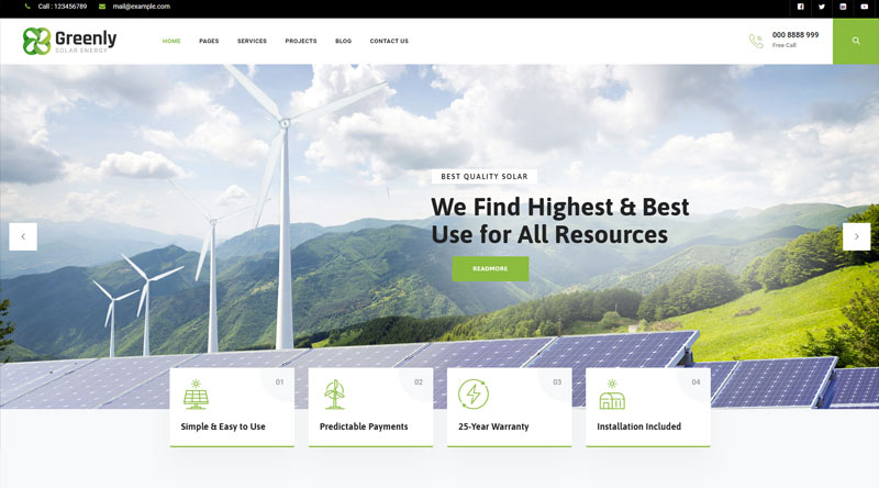 Greenly WordPress Theme