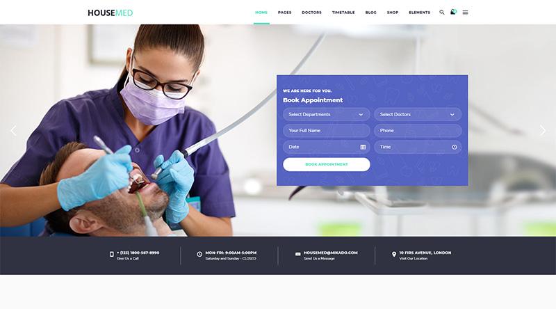 10+ Great Dentist WordPress Themes 1